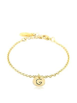 Ettika 18K Gold-Plated G Initial Chain Bracelet