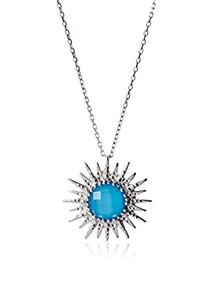 Desk to dinner jewelry fashion design style anzie aztec milly blue sunburst pendant necklace mozeypictures Choice Image