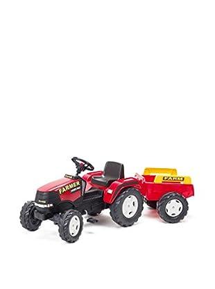 Falk Tractor a Pedales Farmer Power GF-1021B Rojo