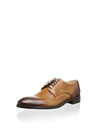 JD Fisk Men's Gilby Plain Toe Oxford (Tan)