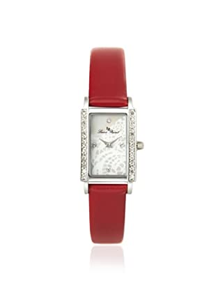 Lucien Piccard Women's 11673-02MOP-RD Monte Baldo Crystal Red Watch