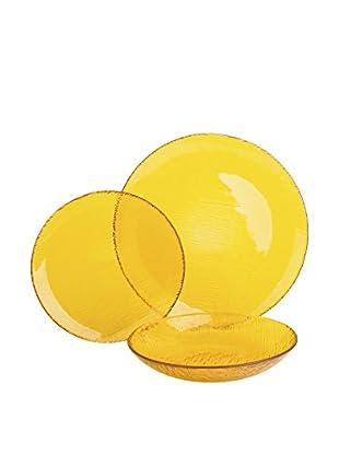 Molecuisine Geschirr 12 tlg. Set Scratch gelb