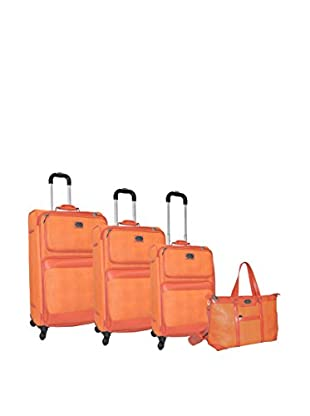 Adrienne Vittadini Stingray 4-Pc Luggage Set, Orange