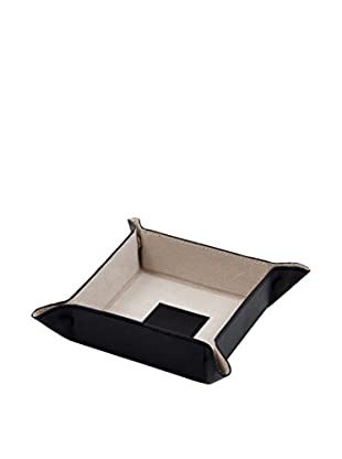 Snap Valet with Leather Lining, Black