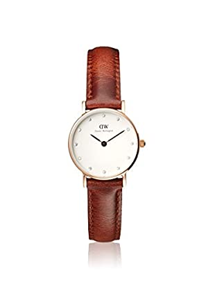 Daniel Wellington Women's 0900DW Classy St Mawes Brown/White Leather Watch