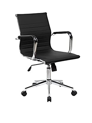 Techni Mobili Modern Executive Chair, Black