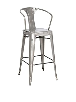 LO+DEMODA Set Taburete de bar 2 Uds. Greek Gris