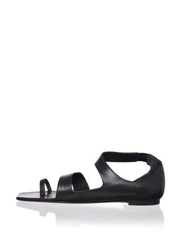 JIL SANDER Women's Asymmetrical Sandal (Black)