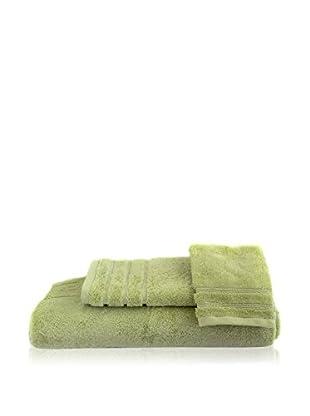 bambeco 3-Piece Organic Cotton 700 Gram Towel Set, Aloe
