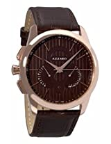 Azzaro Legend Chronograph Brown Dial Rose Gold-Tone Stainless Steel Mens Watch Az2060.53Hh.000