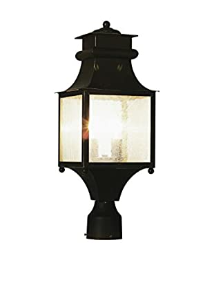 Bel Air Lighting 2-Light Post Lantern, Weather Bronze