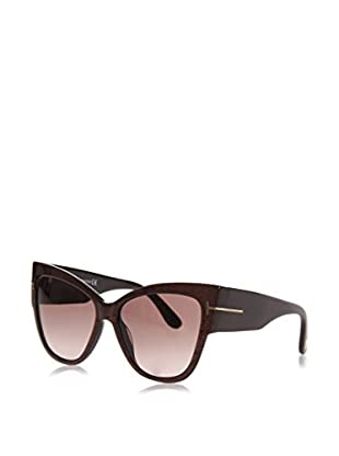 Tom Ford Occhiali da sole FT-ANOUSHKA 0371F-50F (57 mm) Bordeaux/Marrone