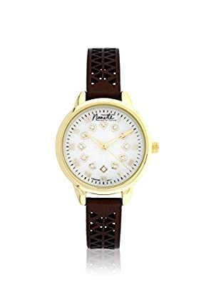 Nanette Lepore Women's 80705 Brown/Mother of Pearl Alloy Watch