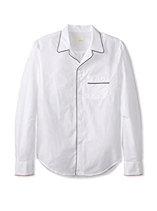 Band of Outsiders Men's Piped Pj Long Sleeve Shirt (White)