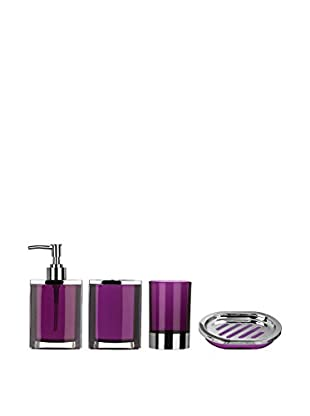 Premier Housewares Bad-Accessoires 4 tlg. Set 1601516 lila