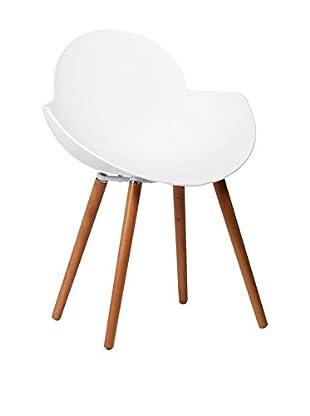 Lo+Demoda Stuhl 2er Set Belly weiß