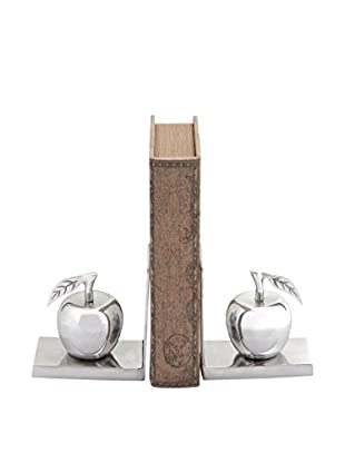 Deco 79 Apple Bookends, Silver