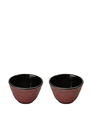 BergHOFF Studio Set of 2 Cast Iron Small Tea Cups, Red