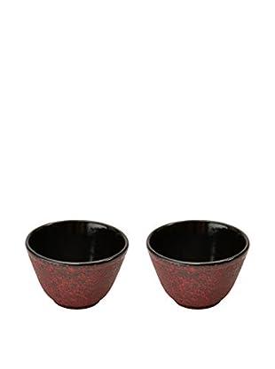 Berghoff Studio Cast Iron Small Tea Cup Set Red (2X)