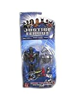 Justice League Cyber Trakers Martian Manhunter Figure with Blazebot By Mattel