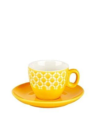 Tognana Kaffeetasse Mit Untertasse 6er Set Pullover gelb