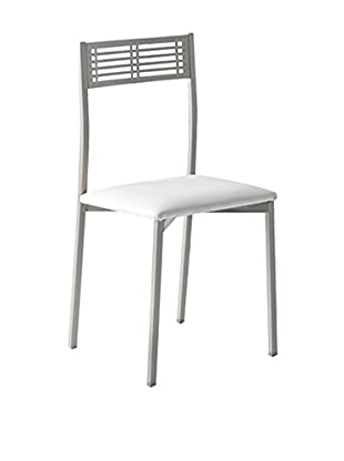 KITCHEN FURNITURE & DECO HOME Set Silla 4 Uds. Gris/Blanco