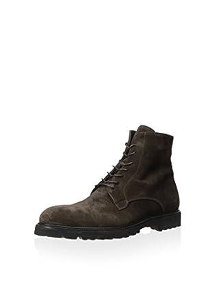 Dino Bigioni Men's Suede Lace Boot (Dark Brown)