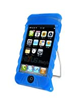 Amzer 80556 Skins with Kick Stand - Blue for iPod Touch