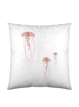 DAVID DELFIN Funda De Cojín Jellyfish Pink