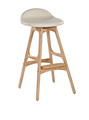 Aeon Euro Home Collection Torbin-2 Bar Stool, Ivory/Ash
