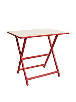 Valsecchi Home srl Tisch weiß/rot