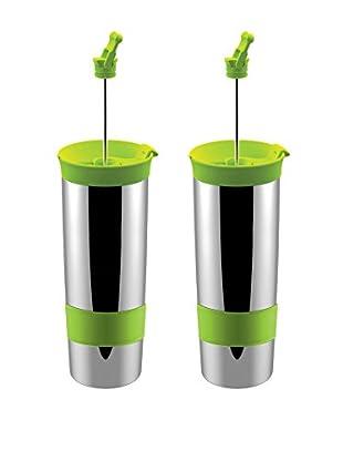 asobu Set of 2 Hot Coffee & Tea Press, Green