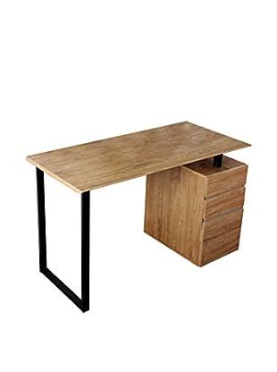 Techni Mobili Computer Desk With Storage & File Cabinet, Pine
