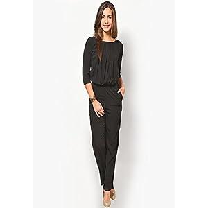 Black Crepe Solid Jumpsuit
