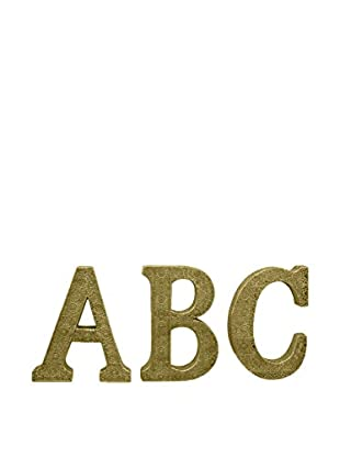 Three Hands ABC Alphabet Letters, Gold