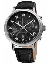 Akribos Chronograph Black Dial Stainless Steel Mens Watch Ak591Bk