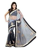 Majestic Silk Bollywood Replica Black And Grey Exclusive Vidya Balan Saree