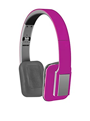 Sharper Image Stereo Folding Headphones with Built-In MIC (Pink)