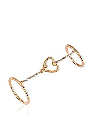 Divas Diamond Anillo Heart (Dorado)