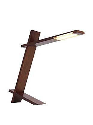 LumiSource LED Plank Lamp, Walnut