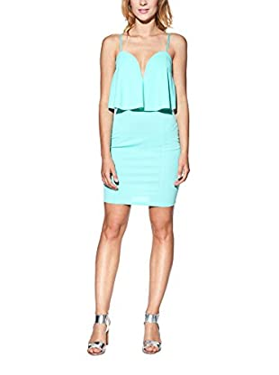 Candy Abito Tight Mini With Strapless Neckline, Layered And Panels