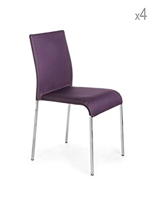 Tomasucci 4er Set Stühle Next lila