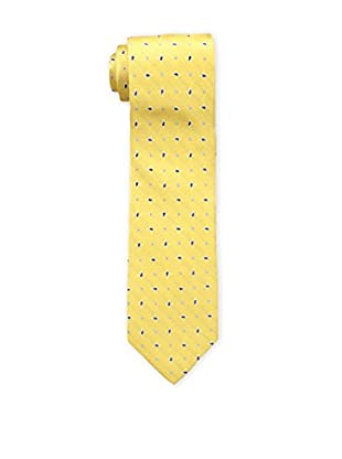 Bruno Piattelli Men's Spaced Teardrop Silk Tie, Gold