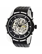 Akribos Automatic Skeleton Dial Black Rubber Mens Watch Ak444Ss