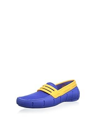 Robert Wayne Men's Clipper Casual Slip-on Float (Blue/Orange)