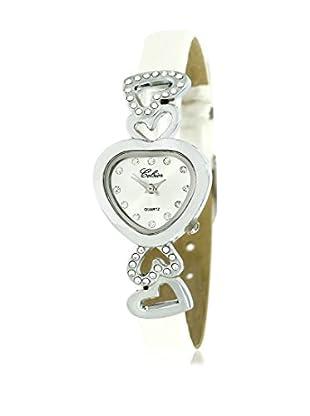 SHINY CRISTAL Uhr mit Japanischem Quarzuhrwerk  silber/weiß