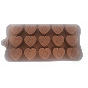 Silicone Chocolate Mold Also Ice Cube Mould for Home Kitchen (Assorted Shape Molds and Assorted Colors)