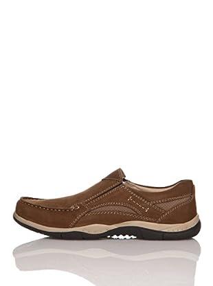 Zerimar Zapatos Comfort Combi Piel Nobuk (Marrón)