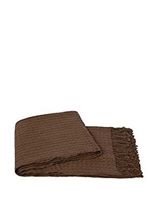 a & R Cashmere Waffleweave Throw, Cappuccino