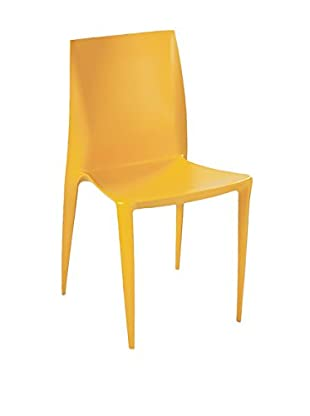 Manhattan Living Square Dining Chair, Yellow